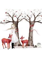 Kerstkaartenset 'Witte kerst'  Karton