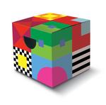 Kleurrijk kinderstoeltje/bijzettafeltje  Karton