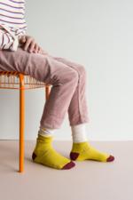 Kniekousen Glitter Nude/Yellow  Kousen
