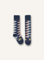 Kniekousen Graphic sock - Dark denim  Kousen