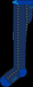 Kousenbroek Fancy Leaves blauw glitter  Kousen  Kousenbroeken - Panty's