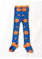 Kousenbroek Mark blauw/oranje polkadots  Kousen