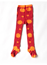 Kousenbroek Mark rood/oranje polkadots  Kousen  Kousenbroeken - Panty's