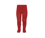 Kousenbroek met fijne rib rood  Kousen  Kousenbroeken - Panty's