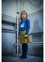 Kousenbroek met opliggend harlekijn motief blue  Kousen  Kousenbroeken - Panty's