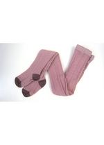 Kousenbroek met verticale kabel Elvina Violet Ice, wol.  Kousen  Kousenbroeken - Panty's