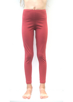 Lange legging licht steenrood  Kousen  Leggings