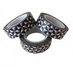 Masking tape grafische driekhoekjes zwart  Karton
