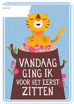 Milestone Baby Cards Nederlands  Karton  Kaartjes enzo