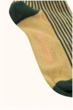 multi lines high socks dark green/sand  Kousen  Kniekousen