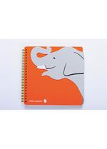 Notaboek spiraal Olifant  Karton  Kaartjes enzo