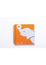 Notaboek spiraal Baby Olifant  Karton  Kaartjes enzo
