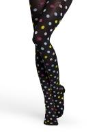 Panty/kousenbroek zwart met kleurige dots  Kousen