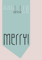 Postkaart KERST : Be Merry  Karton  Kaartjes enzo