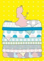 Postkaart Prinses op de erwt  Karton  Kaartjes enzo