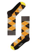 geruite sokken oranje/bruin/beige  Kousen