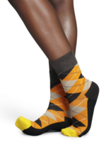 geruite sokken oranje/bruin/beige  Kousen  Kousen/sokken