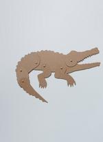 Schuifbeest Krokodil  Karton  Speelgoed / creatief