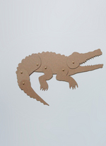 Schuifbeest Krokodil  Karton