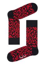 Sokken Artsy black red  Kousen  Kousen/sokken