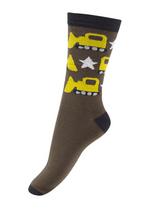 Sokken Buldozer bruin  Kousen  Kousen/sokken
