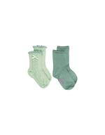 Sokken duo pack Dina glitter mint/glitter mint  Kousen  Kousen/sokken
