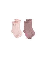 Sokken duo pack Dina glitter roze + roze  Kousen  Kousen/sokken
