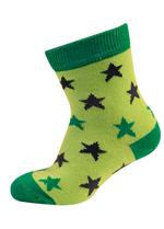 sokken fris groen met groene en antraciet sterretjes  Kousen  Kousen/sokken