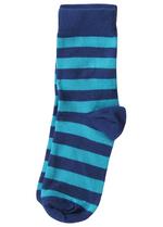 Sokken gestreept blauw/turquoise  Kousen