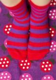 Sokken gestreept rood/paars  Kousen  Kousen/sokken