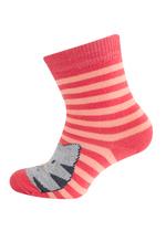 Sokken Gestreepte kat koraal  Kousen  Kousen/sokken