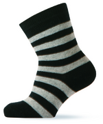 Sokken zwart/grijs gestreept  Kousen