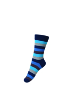 Sokken/kousen gestreept blauw  Kousen  Kousen/sokken