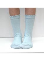Sokken Marmo blauw lurex  Kousen