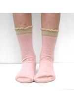 Sokken Marmolte glitter roze gold  Kousen