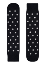 Sokken Special Special Metallic Black dot Silver  Kousen