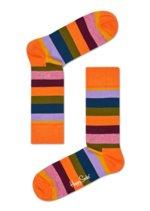 Sokken Stripe Dark peach/Purple  Kousen  Kousen/sokken