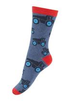 sokken Vrachtwagen gemêleerd blauw  Kousen