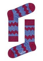 Sokken Wol Zig Stripe Bordeaux/blue  Kousen  Kousen/sokken