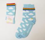Sokken wolken/regenboog  Kousen  Kousen/sokken