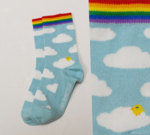 Sokken Wolken/regenboog  Kousen