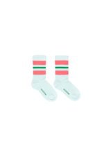 STRIPES MEDIUM SOCKS light mint/rose  Kousen