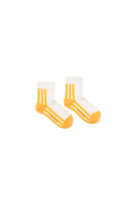 'STRIPES' QUARTER SOCKS off-white/canary  Kousen