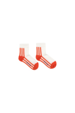 'STRIPES' QUARTER SOCKS off-white/red  Kousen