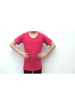 T-shirt donker fuchsia  Kousen