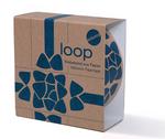 Paper_Loop: Blauw op bruin  Karton  Speelgoed / creatief