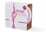 Paper_Loop: Rood op wit fijn strikje  Karton  Speelgoed / creatief