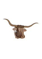Tex Jr Longhorn brown medium  Karton  Interieurdecoratie