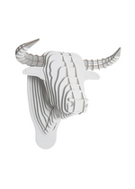 Toro Bull white large  Karton  Interieurdecoratie