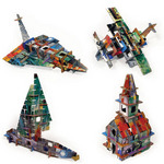 Totem stad 'City'  Karton  Speelgoed / creatief